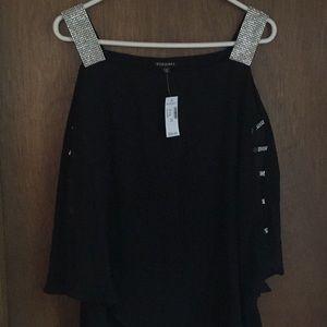 Dress Barn cold shoulder bling top